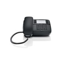 Gigaset DA510 desk phone without (BE) display caller ID/handsfree, Black