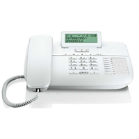 Gigaset DA710 desk phone (BE)  with display, caller ID and handsfree, White
